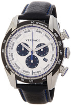 Versace Men's V-Ray Chronograph Leather Strap Watch