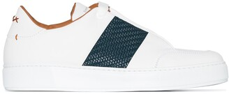 Ermenegildo Zegna Interwoven Panel Detail Sneakers