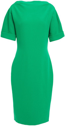 Badgley Mischka Open-back Stretch-cady Dress