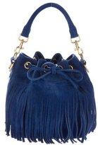 Saint Laurent Emanuelle Fringed Suede Bucket Bag