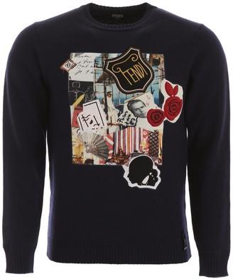 Fendi Karl Kollage Knitted Sweater