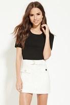 Forever 21 FOREVER 21+ Belted Mini Skirt