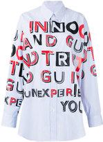 Maison Margiela oversized letter print shirt - women - Cotton - 36