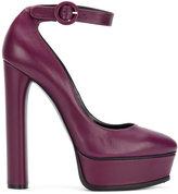 Casadei buckled high heel pumps