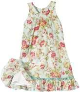 Salt&Pepper SALT AND PEPPER Girl's Dress leichter Blumendruck Dress - multi-coloured
