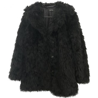 Topshop Tophop Black Coat for Women