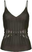 Dion Lee V-neck braided cami top
