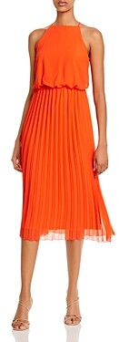 Sam Edelman Pleated-Skirt Midi Dress