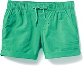 Old Navy Cuffed Poplin Pull-On Shorts for Girls