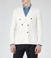 Reiss Pope B Linen Double-Breasted Blazer