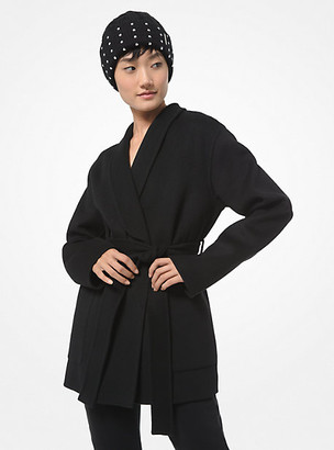 MICHAEL Michael Kors MK Double Face Wool Blend Shawl Collar Coat - Black - Michael Kors