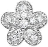 Macy's Diamond Accent Flower Single Stud Earring in 14k White Gold