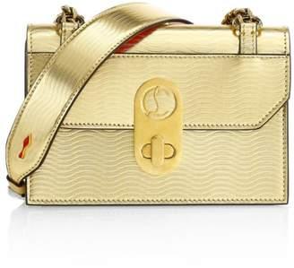 Christian Louboutin Mini Elisa Metallic Leather Shoulder Bag