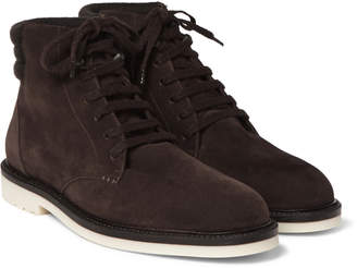 Loro Piana Icer Walk Cashmere-Lined Water-Repellent Suede Boots - Men - Brown