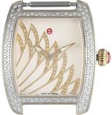 Michele 29mm x 30mm, Urban Mini Matinee Diamond Two-Tone,Diamond Dial Watch Gold/White Watches