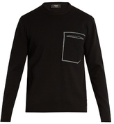 Fendi Patch-pocket Cotton And Cashmere-blend Sweater