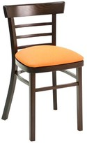 ECO Series Upholstered Dining Chair Florida Seating Color: Mahogany, Upholstery Color: American Beauty Red
