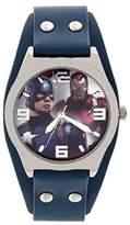 Marvel Boy's Quartz Plastic Casual Watch, Color:Blue (Model: CAP3AQ16031)
