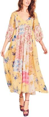 LoveShackFancy Roslyn Silk Dress