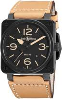 Bell & Ross Men's BR-03-92-HERITAGE Aviation Dial and Beige Strap Watch Watch