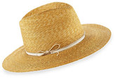 Lola Hats Wrapped Up Straw Fedora Hat, Beige
