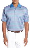 Bobby Jones 'Rose Stripe Jacquard' Mercerized Cotton Polo