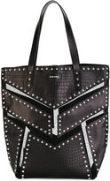 Diesel panelled studded tote - women - Leather/Nylon/Metal (Other) - One Size