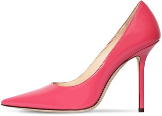 Jimmy Choo 100mm Love Brushed Leather Pumps
