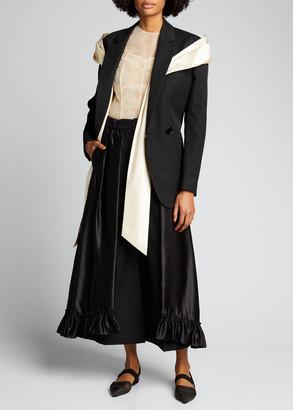 Simone Rocha Oversized Silk Bow Blazer Jacket