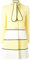 Moschino flappy tie midi coat - women - Cotton/Polyamide/Spandex/Elastane/Acetate - 42