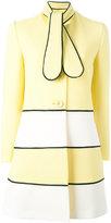 Moschino flappy tie midi coat - women - Cotton/Polyamide/Spandex/Elastane/Acetate - 46