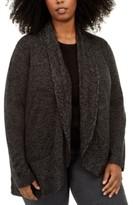 Karen Scott Plus Size Shawl-Collar Cardigan Sweater, Created for Macy's
