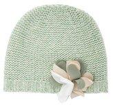 Il Gufo Girls' Knit Floral-Adorned Beanie