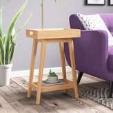 Alkaios Retro Tray Table Mack & Milo Color: Hazelnut