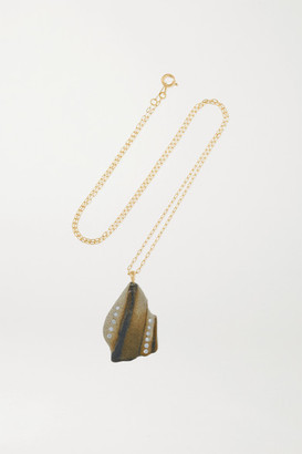 Cvc Stones Luck 18-karat Gold, Stone And Diamond Necklace