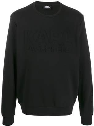 Karl Lagerfeld Paris embossed logo sweatshirt