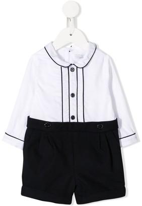 Patachou button shirt playsuit