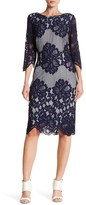 Sangria SBBU366 Floral Lace Jewel Sheath Dress