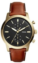 Fossil Men's Townsman Multifunction Leather Strap Watch, 44Mm