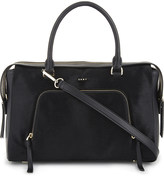 DKNY Greenwich calf-hair large leather satchel