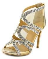Thalia Sodi Fabiaa Women Open-toe Synthetic Gold Heels.
