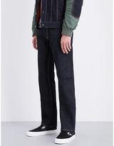 Evisu Phoenix-embroidered regular-fit straight jeans