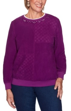 Alfred Dunner Petite Patchwork Pullover