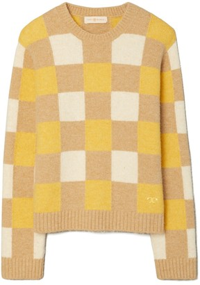Tory Burch Checkered Intarsia Sweater