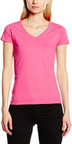 Fruit of the Loom Ladies Lady-Fit Valueweight V-Neck Short Sleeve T-Shirt (L)