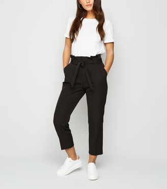 New Look Petite Belted High Waist Trousers