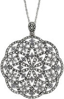 JCPenney FINE JEWELRY Marcasite Open Starburst Pendant Necklace