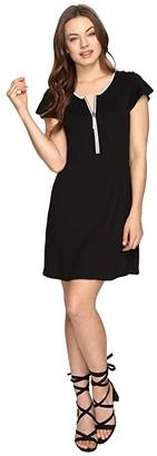 Kensie Drapey French Terry Dress KS0K960S (Black) Women's Dress