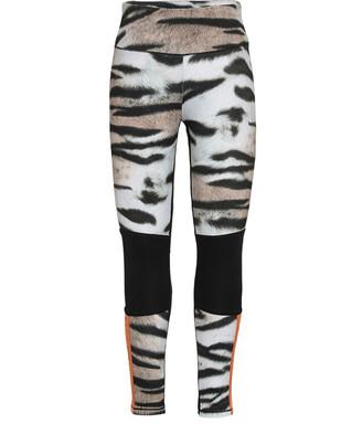 Molo Girl's Olympia Tiger Stripe Printed HeiQ Leggings, Size 3T-16