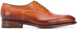Santoni almond toe Oxford shoes
